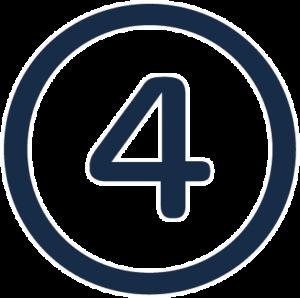 numero 4 en circulo empresas