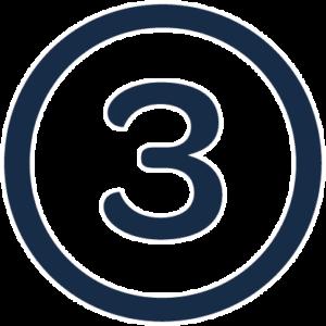 numero 3 en circulo empresas